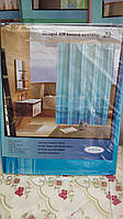 Голубая шторка для ванной комнаты, 180х180 см., 90/78 (цена за 1 шт. + 12 гр.)