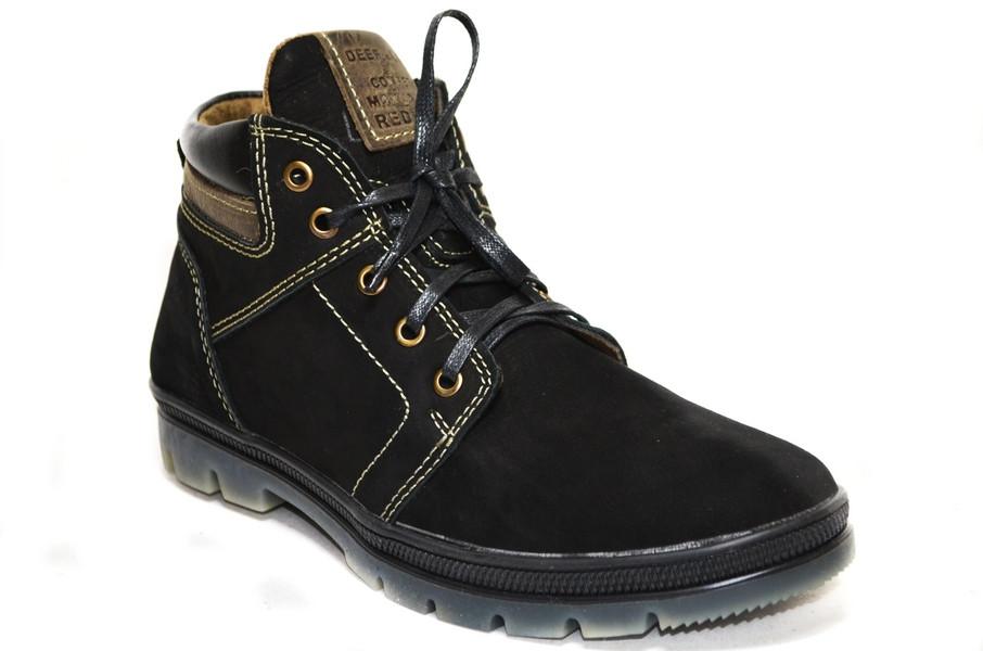 Мужские ботинки (арт.Кэт 2 чер. нуб.)