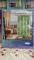 Шторка зеленого цвета для ванной комнаты, 180х180 см., 90/78 (цена за 1 шт. + 12 гр.)