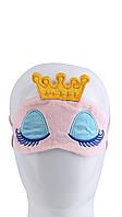 Маска для сна розовая с короной