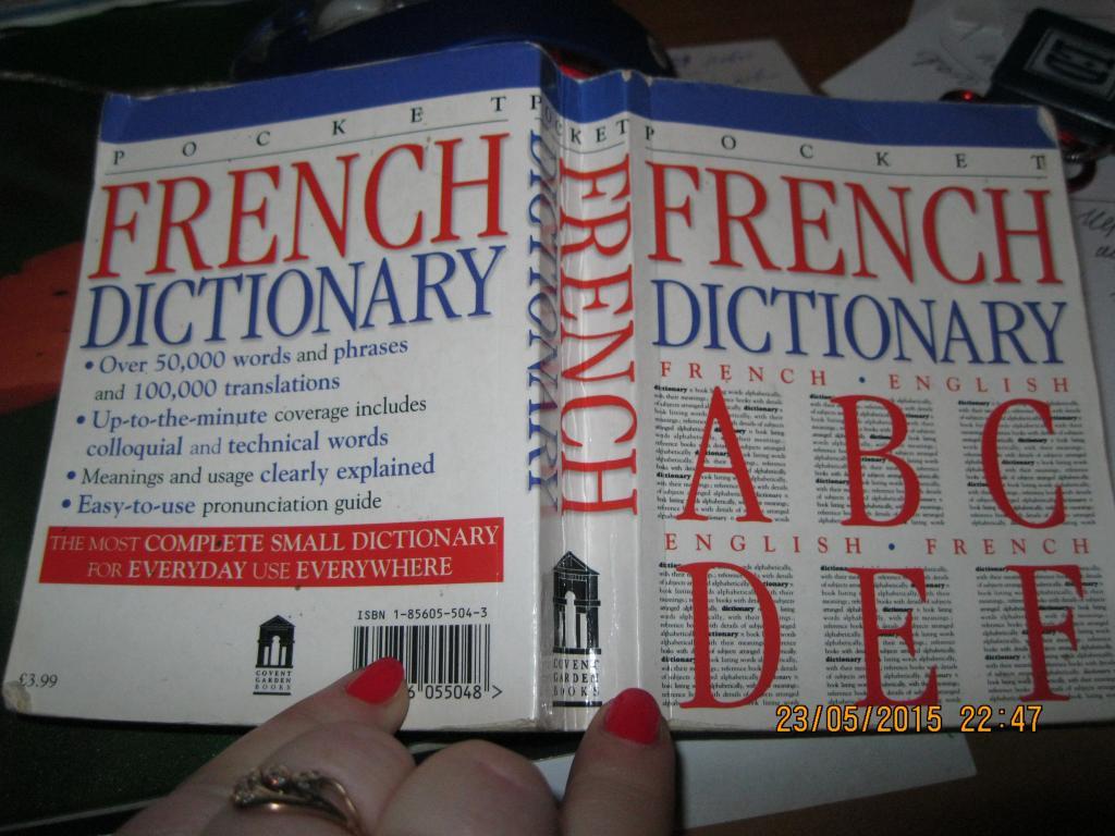 Словарь англо-французский  french-english dictionary POCKET книга на английском языке