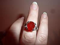 Серебряное кольцо с сердоликом 9х11мм