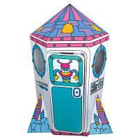 Игровой картонный домик Ракета Деревянные развивающие игрушки