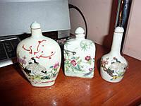 Набор винтажных фарфоровых бутылочек
