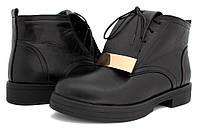 Ботинки осенние на байке женские на низком каблуке