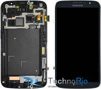 Модуль Дисплей Samsung i9200 Galaxy Mega 6.3 с тачскрином, с рамкой (голубой)