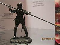 Войн фигурка ФИГУРА статуэтка рыцарь металл с пикой сувенир сплав олова