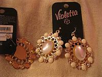 Серьги сережки красивенные!камни нарядные бижутери
