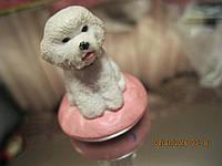 Сувенир игрушка собака статуэтка фигурка болонка в коллекцию, фото 1