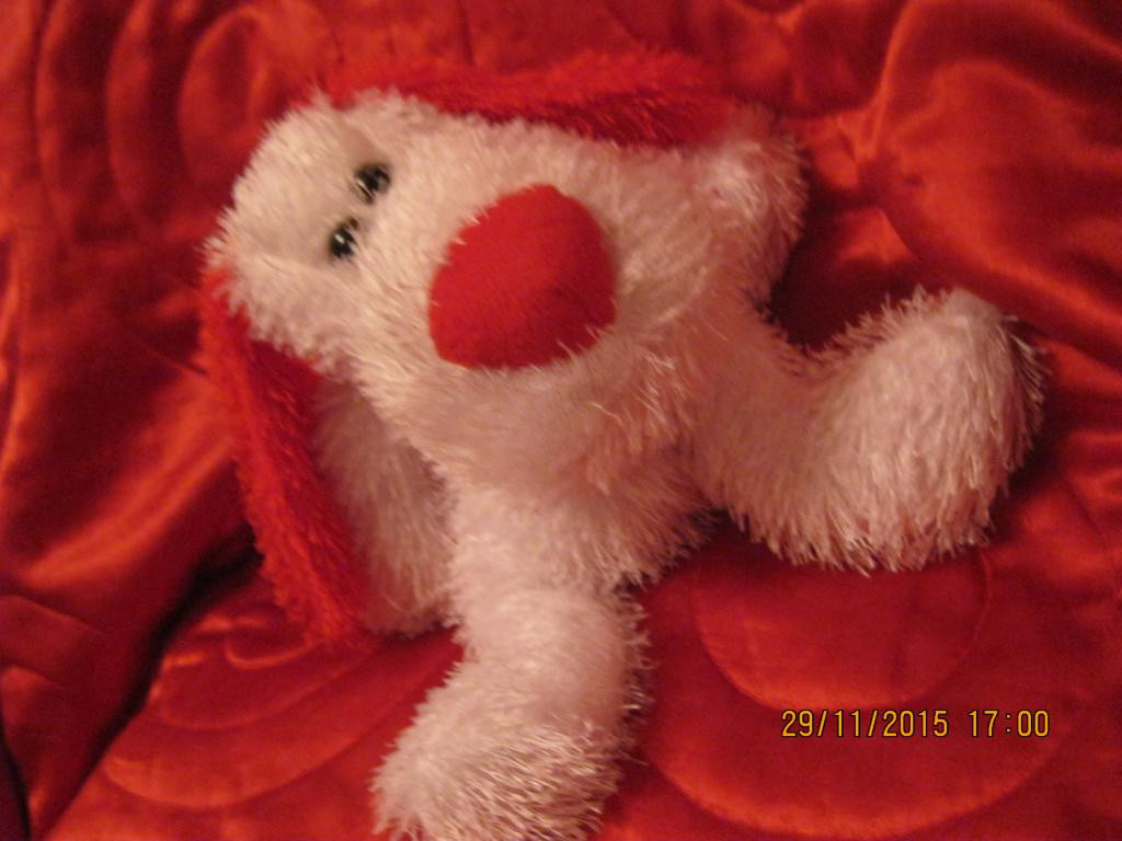 Фирменная мягкая игрушка собака пес поцелуй шарики