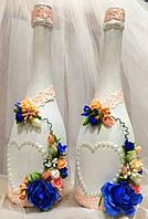 Свадебное украшение шампанского (1 шт)