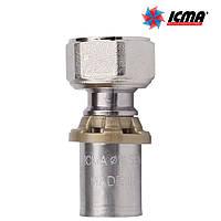 Icma Муфта с накидной гайкой для подключения к коллекторам и вентилям. 16*1/2