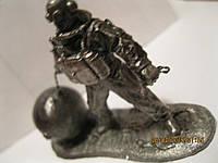 Набор=4 коллекционных водолаза разных фигурка статуэтка водолаз сувенир металл сплав олова СКУЛЬПТУРА h=6.5см
