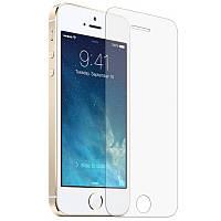 Защитное Стекло на Айфон 5/5s/SE сверхтонкое толщиной 0.15 мм гладкие стороны и углы 2.5D