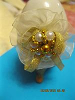 Яйцо фаберже сувенир настольный шкатулка  декор ФИГУРКА  бело-молочный цвет