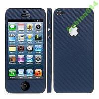 Синий карбон, стикер для iPhone 5/5s se