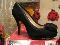 Туфли как замша роза 35р РАСПРОДАЖА черные новые