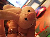Мягкая игрушка заяц кролик браслет погремушка шик