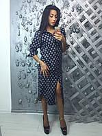 Платье-халат женское из ткани костюмка