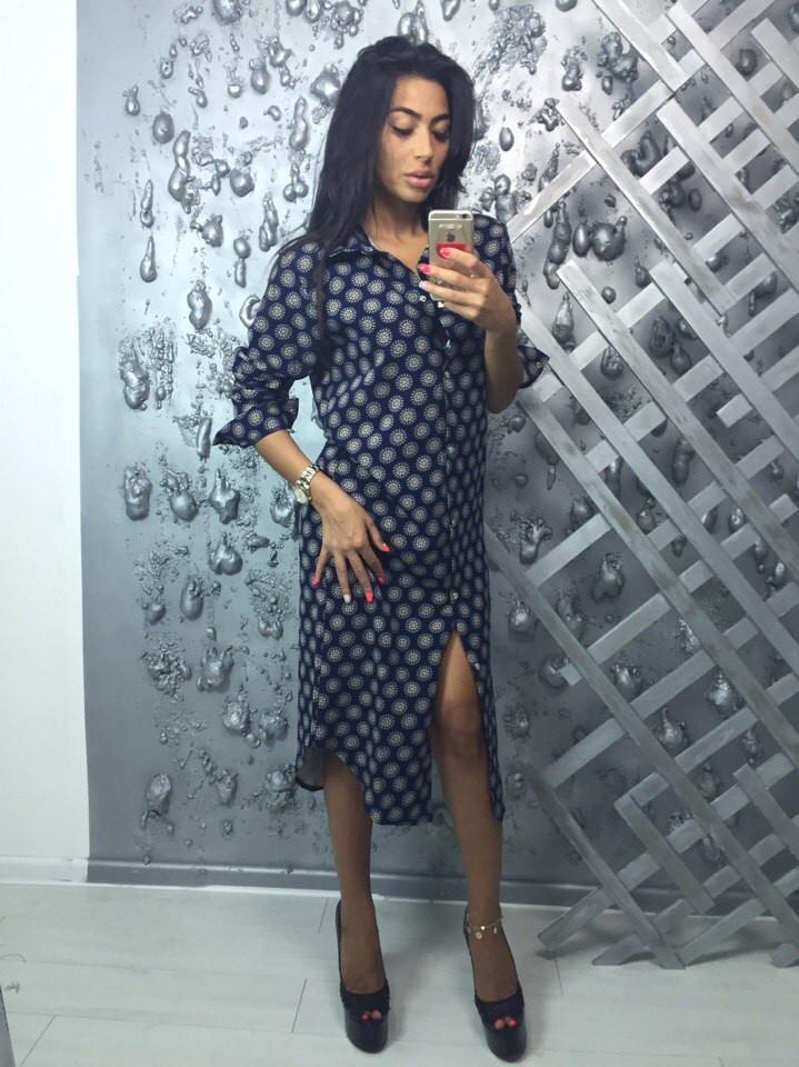 a2ab66688f2767b Платье-халат женское из ткани костюмка: 440 грн. - Платья, сарафаны ...