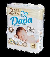 Детские подгузники DADA 2-ка MINI 3-6 кг. 74 шт. little one