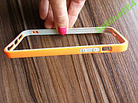 Оранжевый стильный бампер для iPhone 5/5s