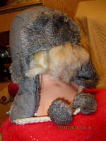 Супер шапка ушанка женская серая с блесками 56-57р