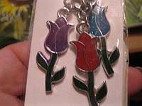Брелок новый сувенир цветы тюльпаны букет шикарный