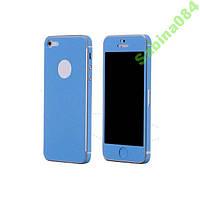Голубой кожаный стикер для iPhone 5/5s se