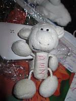 Брелок шкатулка игрушка мягкая овечка овца баран барашек белый фирменный