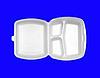 Бокс для обедов из полистирола (3 секции), 350*250*40