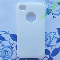 Белый силиконовый чехол для iPhone 4/4s