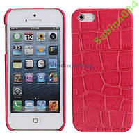 Чехлы для iPhone 5/5s SE лаковая кожа под крокодила
