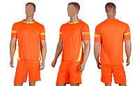 Форма футбольная без номера CO-1603-P (PL, р-р M-L, коралловый, шорты коралловые)