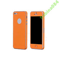 Оранжевый кожаный стикер для iPhone 5/5s se