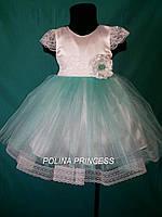 Детское платье для девочки с кружевами