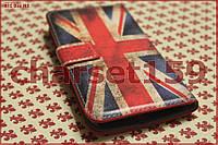 Чехол книжка для HTC One M8 флаг GB 2