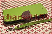 Чехол книжка для HTC One M8 зеленый