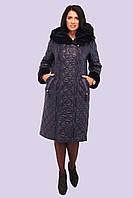 Красивое женское зимнее пальто пуховик с мехом большого размера 50-64 62