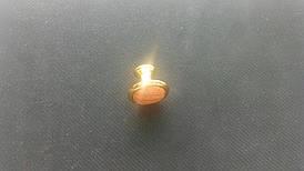 Ручка меблева кнопка золото+вишня