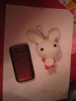 Брелок сувенир заяц зайчик игрушка новый крупный белый