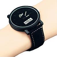 Часы мужские наручные кварцевые парные HBA черные