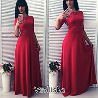 Женское шикарное платье в пол с рукавом (4 цвета)
