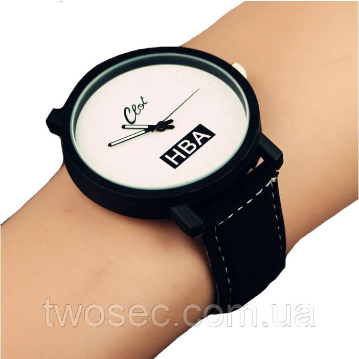 Парные наручные часы женские HBA черно-белые