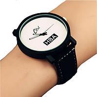 Парные наручные часы женские HBA черно-белые, фото 1