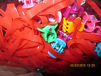 Заколки набор из резинок красных и маленьких крабиков