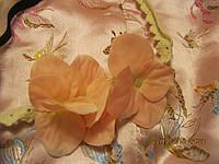 Нежная повязка заколка орхидеи прошва резинка обруч розовая