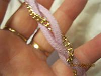 Повязка нежно розовая цепочка новая обруч резинка
