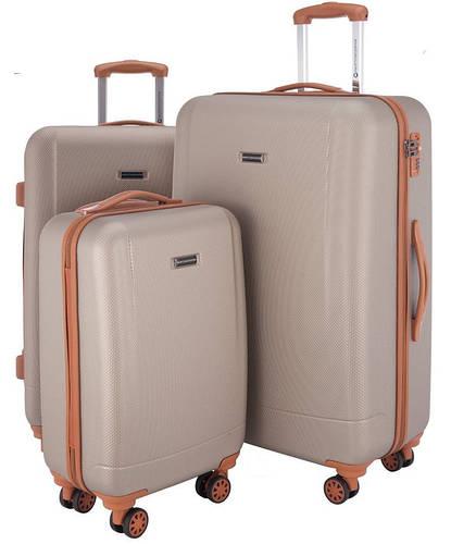 Бронзовый пластиковый комплект чемоданов 94 л., 63 л., 38 л. HAUPTSTADTKOFFER WANNSEE set bronze