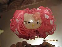 Заколка шпилька уточка детская розовая КИТТИ kitti 10 на 6см бант